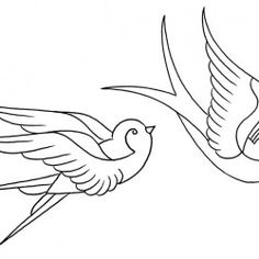 Traditional Swallow (sketch tattoo)