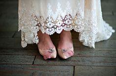 chaussures pour mariage vintage
