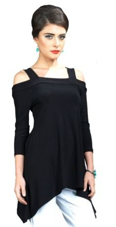 Amazon.com: Clara Sun Woo Cold Shoulder Tunic Top: Clothing