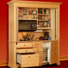 Mini-Kitchen Armoires-smaller version of this for out front
