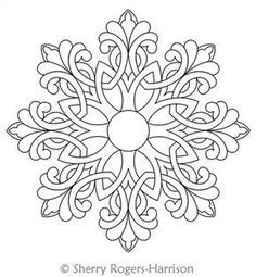 Snowflake Medallion Digital Quilting Design Celtic Snowflake Medallion by Sherry Rogers-Harrison.Digital Quilting Design Celtic Snowflake Medallion by Sherry Rogers-Harrison. Quilting Room, Longarm Quilting, Quilting Rulers, Folk Embroidery, Embroidery Patterns, Indian Embroidery, Modern Embroidery, Flower Embroidery, Vintage Embroidery