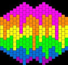Rainbow kandi mask pattern