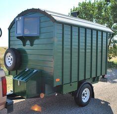 Tiny Bay Window and storage box over trailer tongue