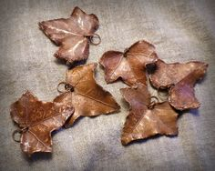Copper Ivy Leaf Pendant 1 copper jewelry component by CopperRealm
