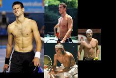 Safin, Djokovic, Roddick, Nadal. A bunch of tennis hottness!! @Nancy Lawler.
