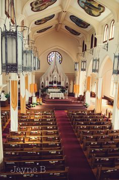 Interior of the Shrine of the Immaculate Conception, Atlanta. Oldest Catholic church in town, serving as a hospital during the Civil War. I grew up in here.