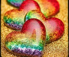Love Rainbow Heart Colors Glass Things