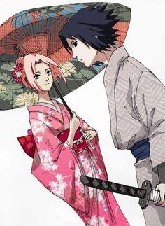 Sasuke Uchiha and Sakura Haruno (Naruto)