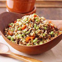 Slow Cooker Multigrain Pilaf #myplate #wholegrains #vegetables