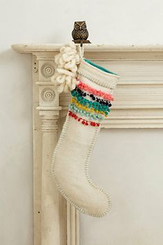 anthropologie christmas stocking - Google Search