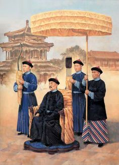 Qing Emperor with his bodyguard, China