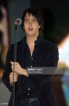 Julian Casablancas of The Strokes during Little Steven's Underground Garage Festival Presented by Dunkin' Donuts - Show - August 14, 2004 at Randall's Island in New York City, New York, United States.