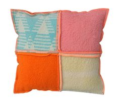 pillow: patchwork from vintage blankets