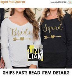 ON SALE long sleeve bridesmaid bachelorette shirts
