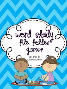 Words Their Way Word Study File Folder Games-Perfect for word work centers and spellers of all stages