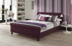 The Hazel is an elegantly refined bedstead which will suit modern and traditional interiors. Hazel is available in a choice of 6 different colours, helping it to blend and match with the wider bedroom. Timber Bed Frames, Timber Beds, King Bedding Sets, Queen Size Bedding, Plum Bedding, Bed Goals, Furniture Fix, Upholstered Bed Frame, Stylish Beds
