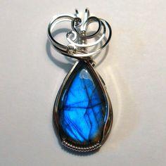 Commissioned Labradorite Pendant by innerdiameter.deviantart.com on @DeviantArt