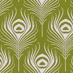 Fabrics - Plume - Thomas Paul - Green - Fabric - Calico Corners - green, feather, peacock, thomas paul, avocado