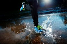 Photo about Single runner running in rain and making splash in puddle. Image of jogger, sport, running - 34852393 Running Everyday, Running In The Rain, Running Tips, Running Shoes, Tempo Run, Confidence Boosters, Humor, Motivation, Summer Days