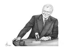 Drawing - David Letterman by Murphy Elliott , Tv Guide, Suit Jacket, David, Fashion, Moda, Fashion Styles, Jacket, Fashion Illustrations, Suit Jackets