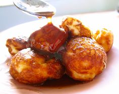 Buttermilk Ebelskivers with Brown Butter Cinnamon Syrup