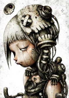 Welcome to the World of Steampunk Imagine a high-tech world where the machines were powered by steam and clockwork mechanisms replaced electronics. Tatoo Steampunk, Steampunk Drawing, Arte Steampunk, Steampunk Fashion, Steampunk Artwork, Arte Horror, Horror Art, Post Apocalyptic Art, Arte Robot
