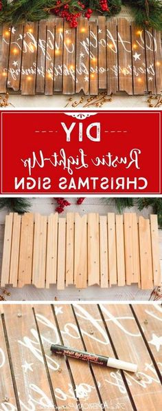 christmas signs DIY Rustic Light-Up Christmas Sign, DIY Christmas Decor, O Holy Night, Christmas Craft Tutorial Holiday Crafts, Holiday Fun, Rustic Christmas Crafts, Rustic Crafts, Diy Christmas Projects, Rustic Christmas Decorations, Christmas Crafts For Gifts For Adults, Merry Christmas Sign Diy, Christmas Ideas For Toddlers