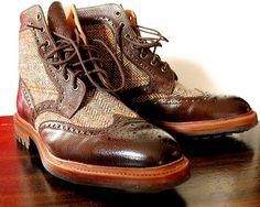Harris Tweed Boots by Alfred Sargent