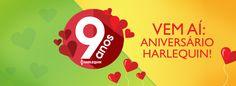 Harlequin Brasil e Literatura de Mulherzinha comemorando 9 anos em abril... E não faltam motivos para festejar!! Confiram os lançamentos do mês!!! http://livroaguacomacucar.blogspot.com.br/2014/03/lancamentos-de-abril-da-harlequin-brasil.html