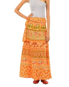 5272c1411 Fashiana Womans Wrapskirt Indi Sarong Long Cotton Wrap Around Skirt Beach  Dress