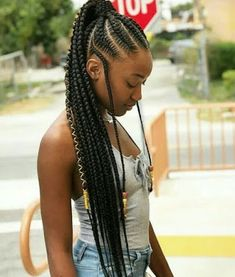 African American girl wearing a braided cornrow ponytail. African American girl wearing a braided cornrow ponytail. Box Braids Hairstyles, Braided Ponytail Hairstyles, My Hairstyle, Braided Ponytail Weave, Ponytail Styles, Black Girl Braids, Braids For Black Hair, Girls Braids, Kids Box Braids