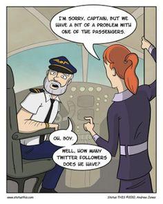 Social Media Humor - Twitter trouble at 10,000 feet.