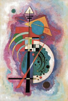 """""""Hommage a Grohmann"""" by Wassily Kandinsky is one of his most well known paintings. Will Grohmann - a German art historian, art critic and art historian, considered the 'godfather of modernism.' He specialized in German expressionism and abstract art. Kandinsky Prints, Art Kandinsky, Wassily Kandinsky Paintings, Abstract Words, Abstract Art, Abstract Landscape, Tattoo Abstract, Abstract Paintings, Poster Prints"""