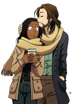 "Our favorite ""Leftenant"" gets a pleasant surprise from Ichabod during a Starbucks run fanart"