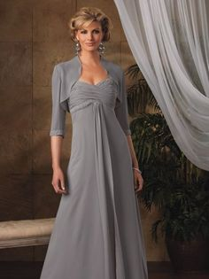 Perfect A-line Sweetheart Chiffon Plus Size Mother Of The Bride Dresses Online Shopping - Click Image to Close