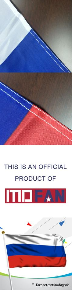 MOFAN 3X5 Foot Russian Flag Double Stiched RUS federer flag 90cmx150cm Polyester Russia Federation