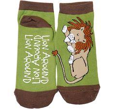 """""""Lion Around"""" Slipper Socks #lazyone #lazyoneinc"""