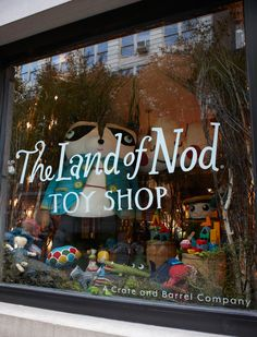 The Land of Nod, 136 Prince Street - Soho. Between Wooster & W. Broadway, New York New York Christmas, Christmas Store, Retail Windows, Store Windows, Kids Store, Toy Store, Boutiques, Store Window Displays, Display Window