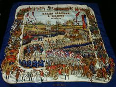 """Hermes Silk Scarf """"Moscou* Imperial Russia History"""