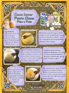 Tartas, Galletas Decoradas y Cupcakes: Paso a Paso Bakery Recipes, Kitchen Recipes, Dessert Recipes, Cooking Recipes, Desserts, Restaurant Recipes, Pasta Choux, Cream Puff Recipe, Shugary Sweets
