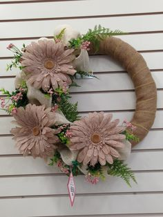 Spring burlap wreath by Suzanne, floral designer Michaels Arts and Crafts Whitehall Pa. Diy Wreath, Mesh Wreaths, Grapevine Wreath, Burlap Wreaths, Wreath Ideas, Traditional Bowls, Pastel, Art Therapy Activities, Burlap Crafts