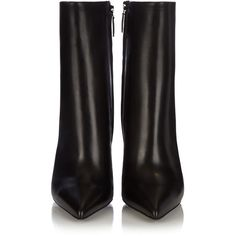 Balenciaga Bistrot leather boots ($1,015) ❤ liked on Polyvore featuring shoes, boots, real leather knee high boots, wrap boots, shiny leather boots, pointed-toe boots and woven boots