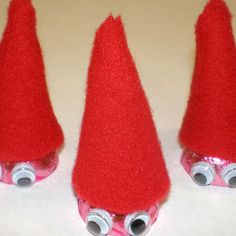 Gnome Kisses make super easy and adorable Valentine's Day treats!