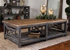 Solid, Reclaimed Fir Wood Hand Finished In Brushed Black With Natural Wood Undertones. Top Is Salvaged Fir Lumber Sun Faded And Left Natural With Only A Light Gray Glaze.Dimensions: 17H x 56.25W x 29.