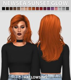 Newsea Sunset Glow Hair for The Sims 4 Informations About Newsea Sunset Glow Hair for The Sims 4 Pin The Sims 4 Pc, Sims 4 Cas, Sims Cc, Maxis, Sims 4 Anime, Sims 4 Traits, Sims 4 Black Hair, The Sims 4 Cabelos, Glow Hair