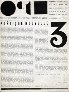 """Issue number 3 of Cercle et Carré. Essays include """"Poétique Nouvelle,"""" by Michel Seuphor."""