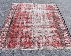 Turkish rug Oushak rug Vintage rug Turkey rug by turkishrugstar Boho Decor, Rustic Decor, Bohemian Rug, Aztec Rug, Black Rug, Rugs In Living Room, Handmade Rugs, Vintage Rugs, Rug Size