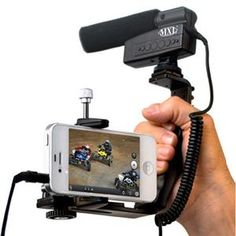 Mobile videographers' essentials kit with a microphone and smartphone mounting solution.  #iphoneography #mobile #video