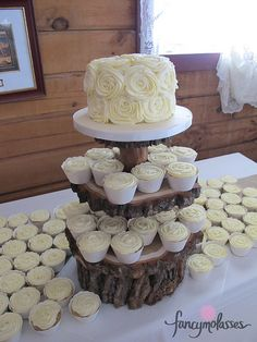 Rustic buttercream wedding cake | Flickr - Photo Sharing!