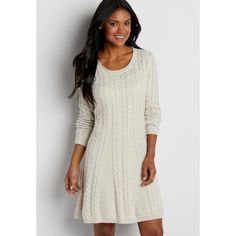 maurices Cable Knit Sweater Dress, Women's, (3.185 RUB) ❤ liked on Polyvore featuring dresses, cable knit dress, cable dress, maurices dresses, cotton sweater dress and cotton dresses